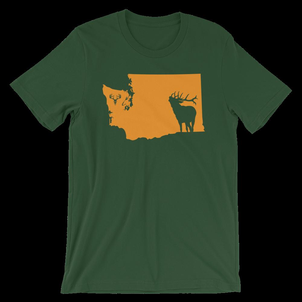 Washington State Elk Short-Sleeve Unisex T-Shirt