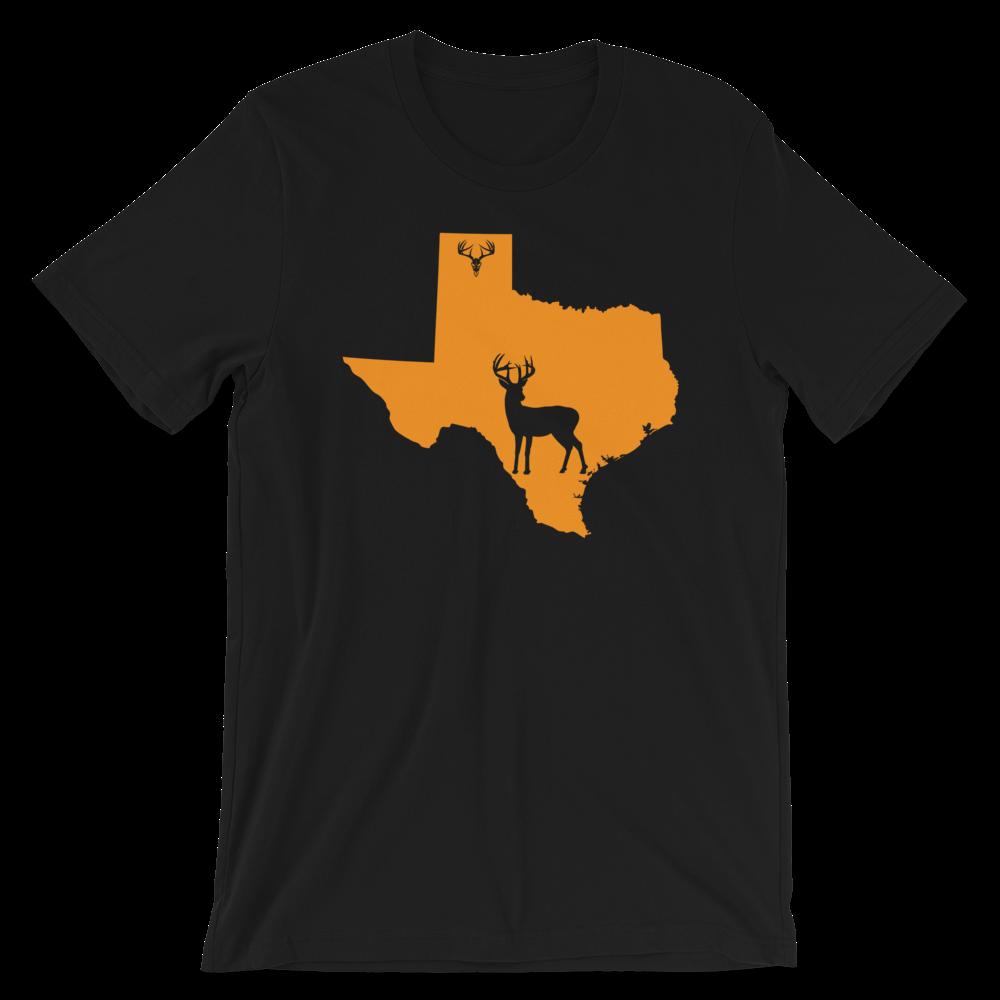 Texas State Whitetail Deer Short-Sleeve Unisex T-Shirt