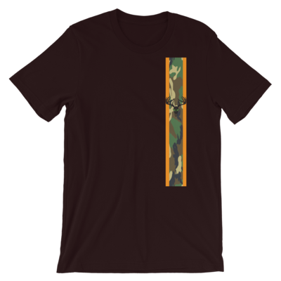 Camo Racing Stripe Short-Sleeve Unisex T-Shirt