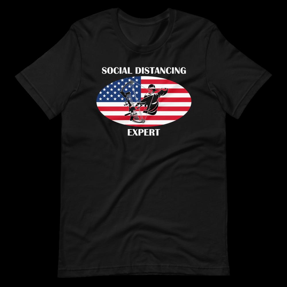 Social Distancing Expert Short-Sleeve Unisex T-Shirt
