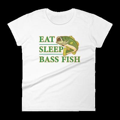 Eat Sleep Bass Fish Women's short sleeve t-shirt