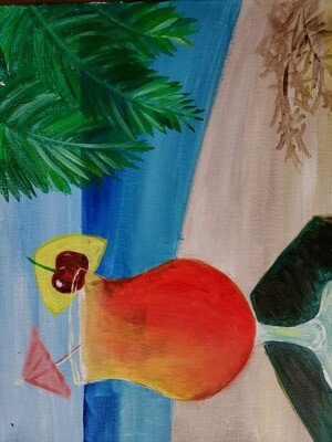 Tropical Drink Painting