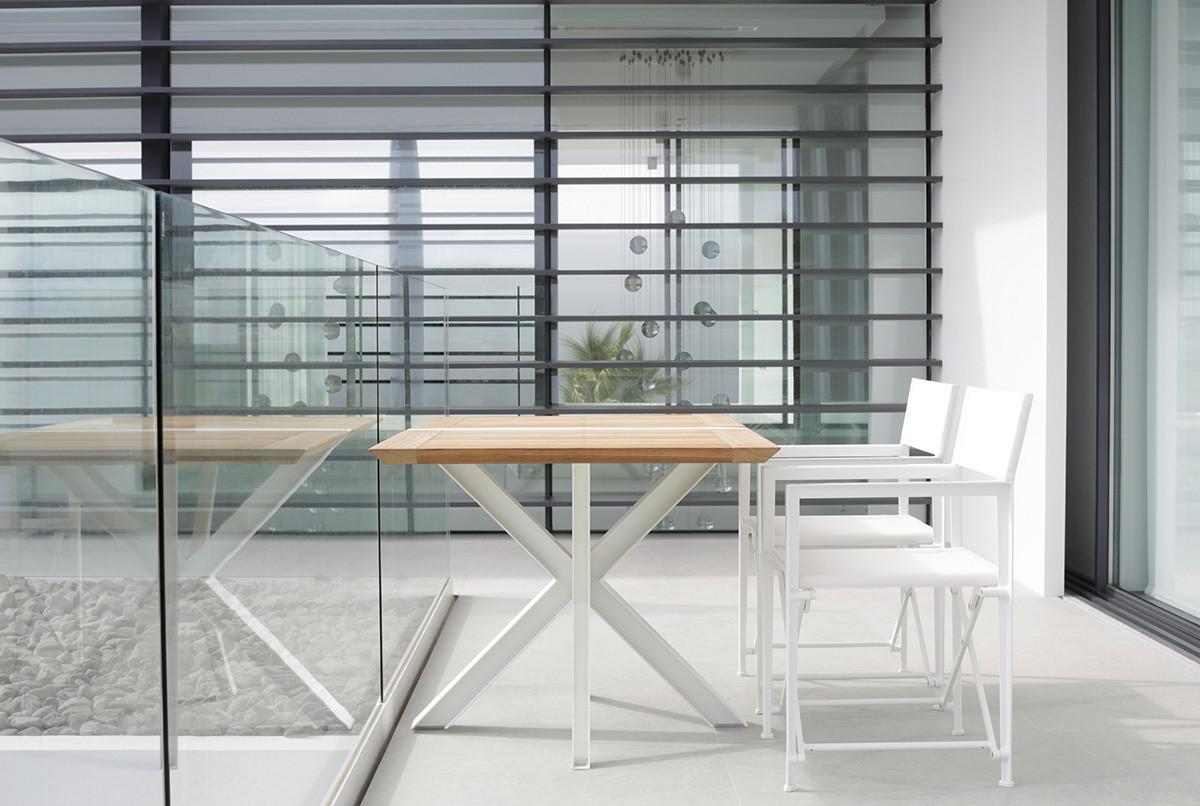 TRAVERSE Траверс раскладные стулья и столы из алюминия и тика Royal Botania Бельгия