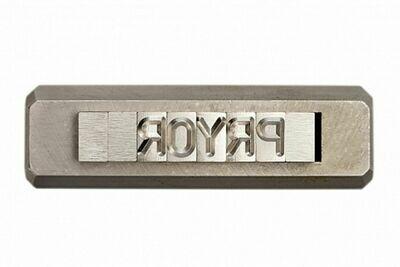 PRYOR Stahltype einzeln auswechselbar