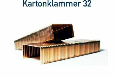 Kartonklammer 32