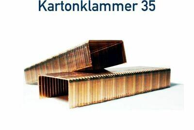 Kartonklammer 35