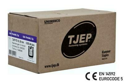 6.500 Klammern G/50 12µ verzinkt CE mit Bauzulassung