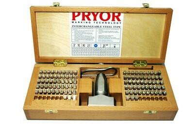 PRYOR Stahltypensatz 10.0 mm mit Typenhalter