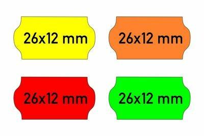 Etiketten 26x12 mm gelb orange rot grün - G2 permanent
