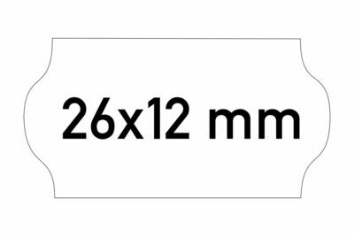 Etiketten 26x12 mm weiss G1 - ablösbar