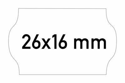 Etiketten 26x16 mm weiss G1 - ablösbar