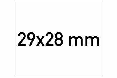 Etiketten 29x28 mm weiss G1 - ablösbar