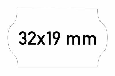 Etiketten 32x19 mm weiss G1 - ablösbar