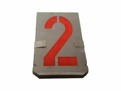 Metall Schablone Zahlen