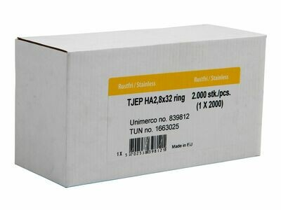 2.000 Haftennägel Tjep HA 2.8x32 mm Länge Edelstahl A2