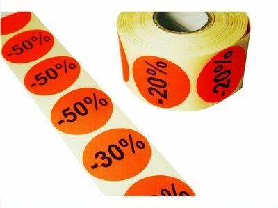 Aktionsetiketten 50 mm Durchmesser
