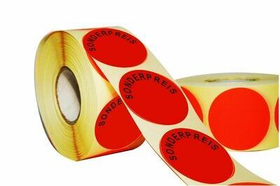 Aktionsetiketten 50 mm Durchmesser - Sonderpreis