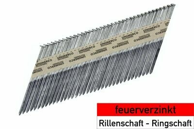 6.000 Streifennägel 2.8x50 - feuerverzinkt - Ringschaft - D-Kopf