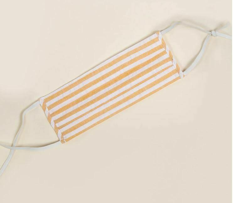 Yellow Stripe Facemask