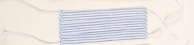 Blue Stripe Cotton Facemask