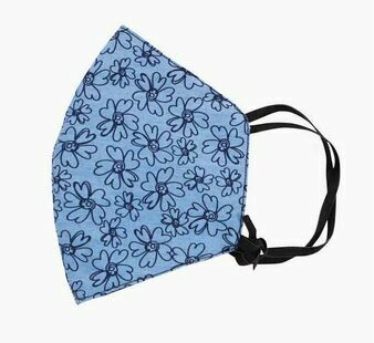 Blue Flower Cotton Facemask