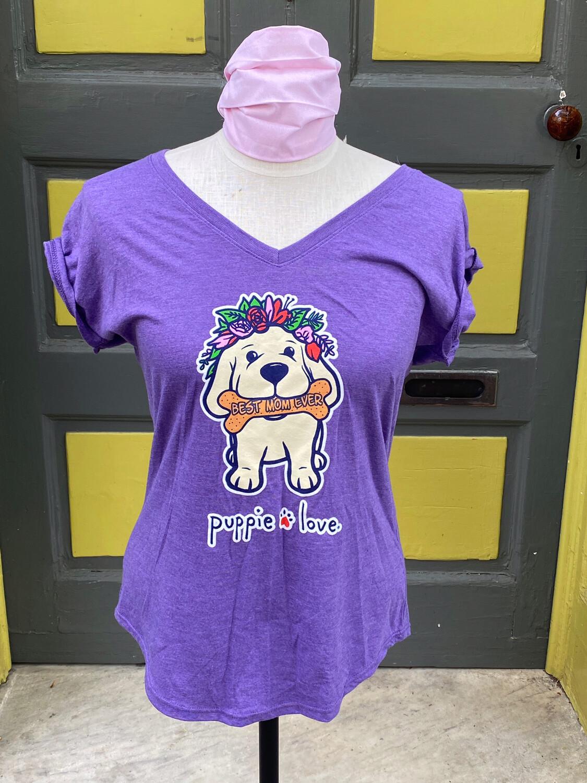 Puppie Love Best Mom Ever Purple