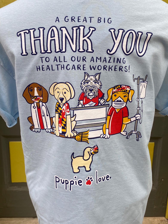 Puppie Love Thank You Blue