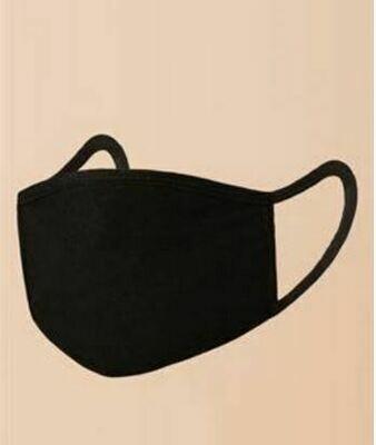 Black Cotton Facemask