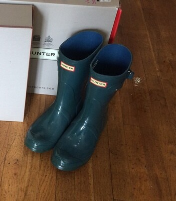 Hunter Boots Short Teal  Size 9