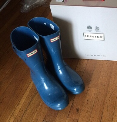 Hunter Boots Short Blue Size 11
