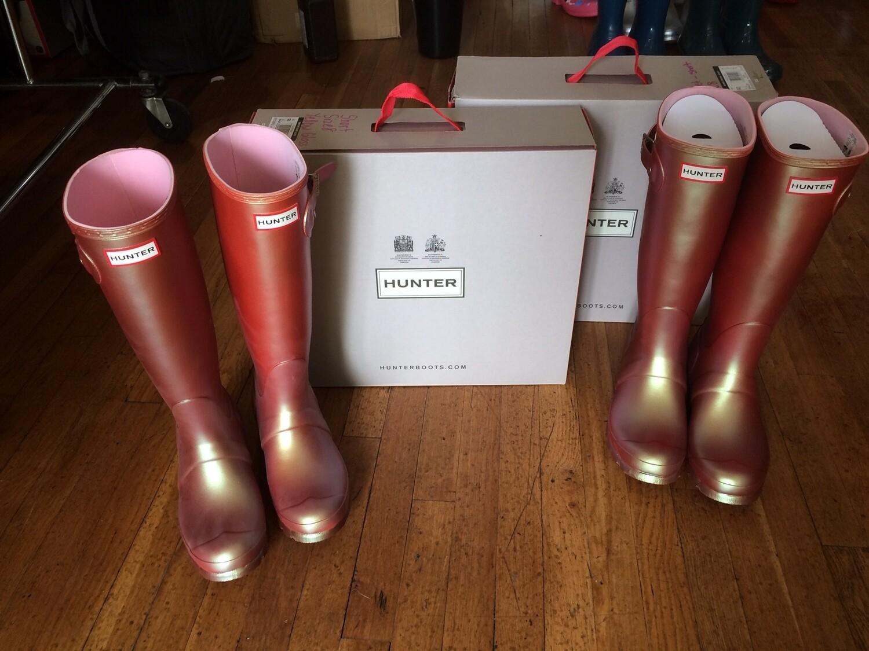 Hunter Boots Tall Pink Nebula Size 6