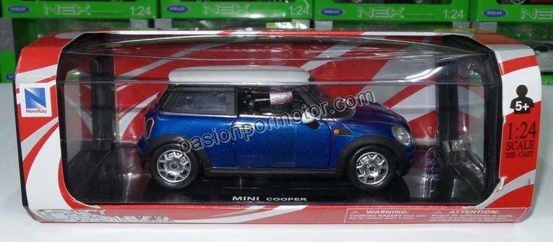 1:24 Mini Cooper 2007 Azul New Ray Con Caja