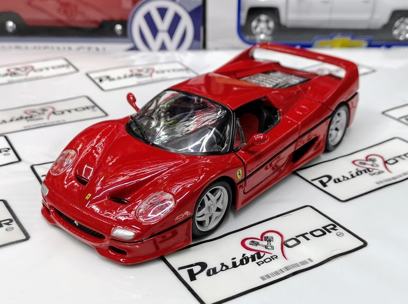 1:24 Ferrari F50 1995 Rojo Bburago Burago Race & Play En Display / A Granel