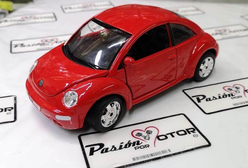 1:24 Volkswagen New Beetle 1998 Rojo Bburago Burago En Display / A Granel