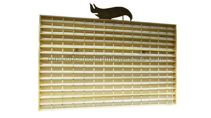 1:64 Coleccionador de Pared Repisa En Madera Basico Para 210 Piezas tipo Hot Wheels