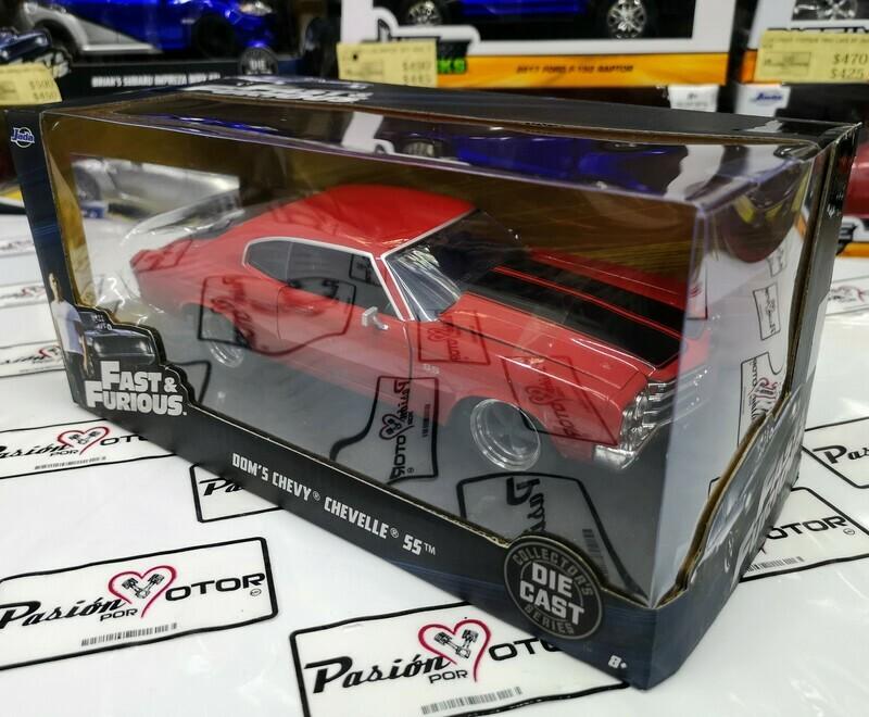 1:24 Chevrolet Chevelle SS 1970 Rojo Dom's Toretto Rapido Y Furioso 1 Jada Con Caja