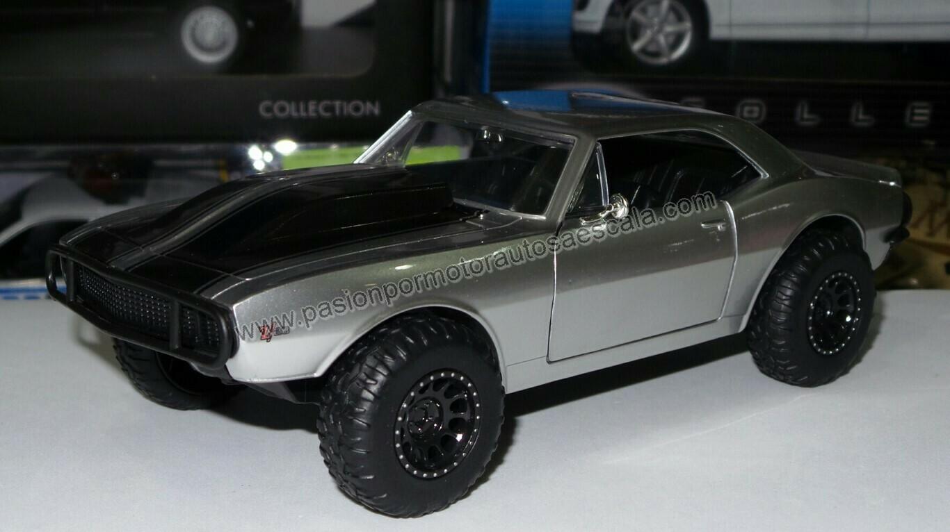 1:24 Chevrolet Camaro 1967 Off Road Plata Roman's  Rapido Y Furioso 7 Jada Toys En Display / A Granel
