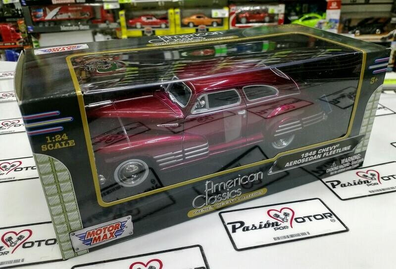 1:24 Chevrolet Aerosedan Fleetline 1948 Vino Motor Max Sedaneta C Caja
