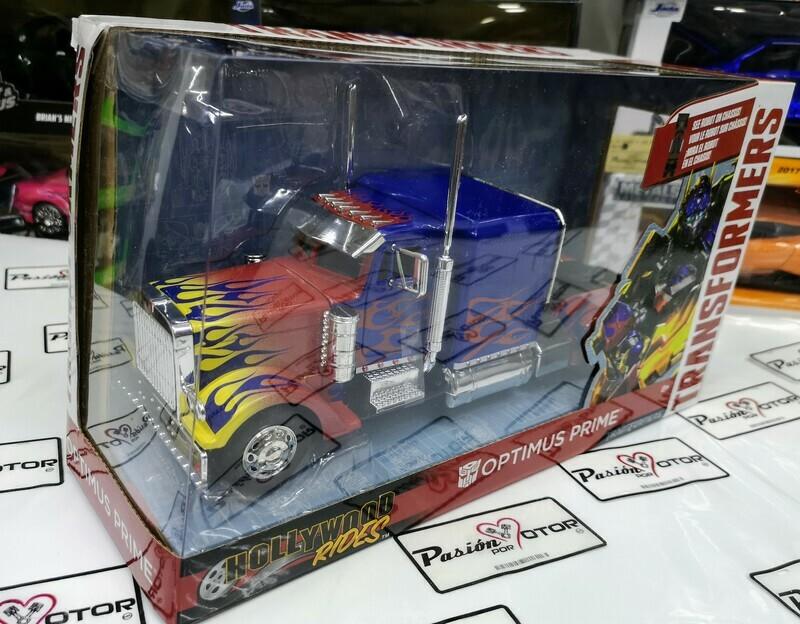 1:32 Peterbilt Model 379 1992 Optimus Prime Transformers Jada C Caja