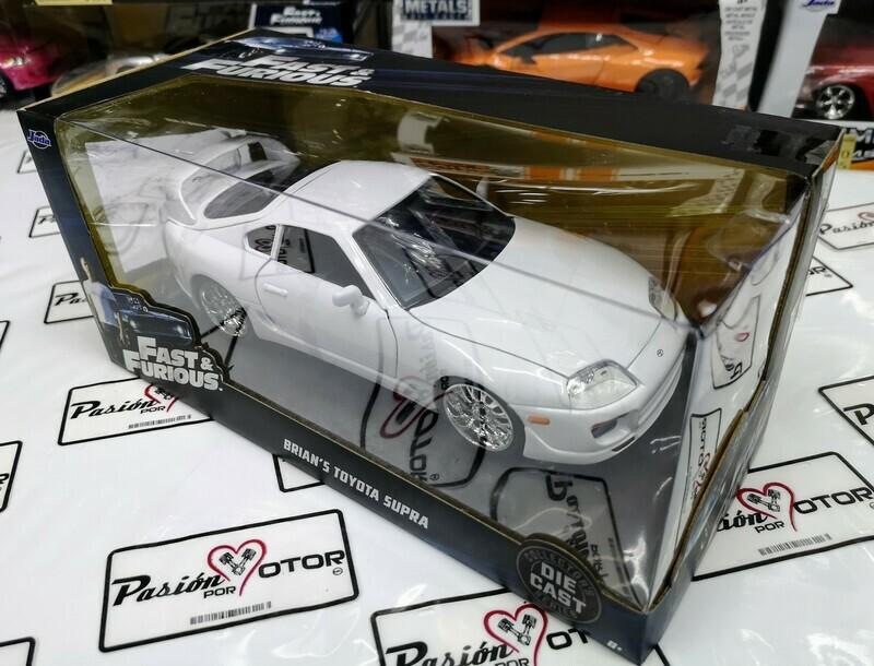 1:24 Toyota Supra Blanco 1995 Brian's  Rapido y Furioso 7 Jada Toys C Caja