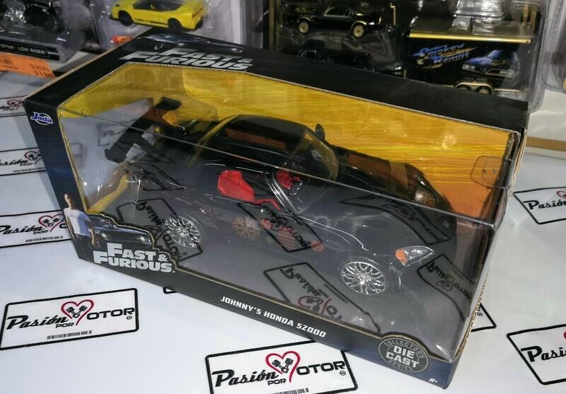 1:24 Honda S2000 2001 Negro Johnny's  Rapido Y Furioso Jada Toys Con Caja