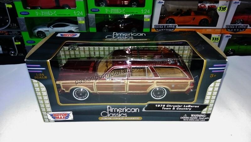 1:24 Chrysler Lebaron Town Country 1979 Cafe Guayin Wagon Motor Max C caja