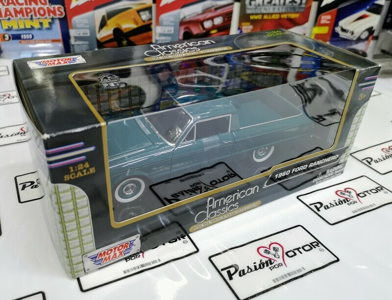 1:24 Ford Ranchero 1960 Pick Up Verde Motor Max C Caja