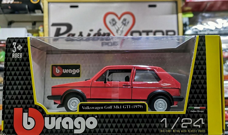 1:24 Volkswagen Golf GTi 1979 Rojo Bburago Caribe C Caja