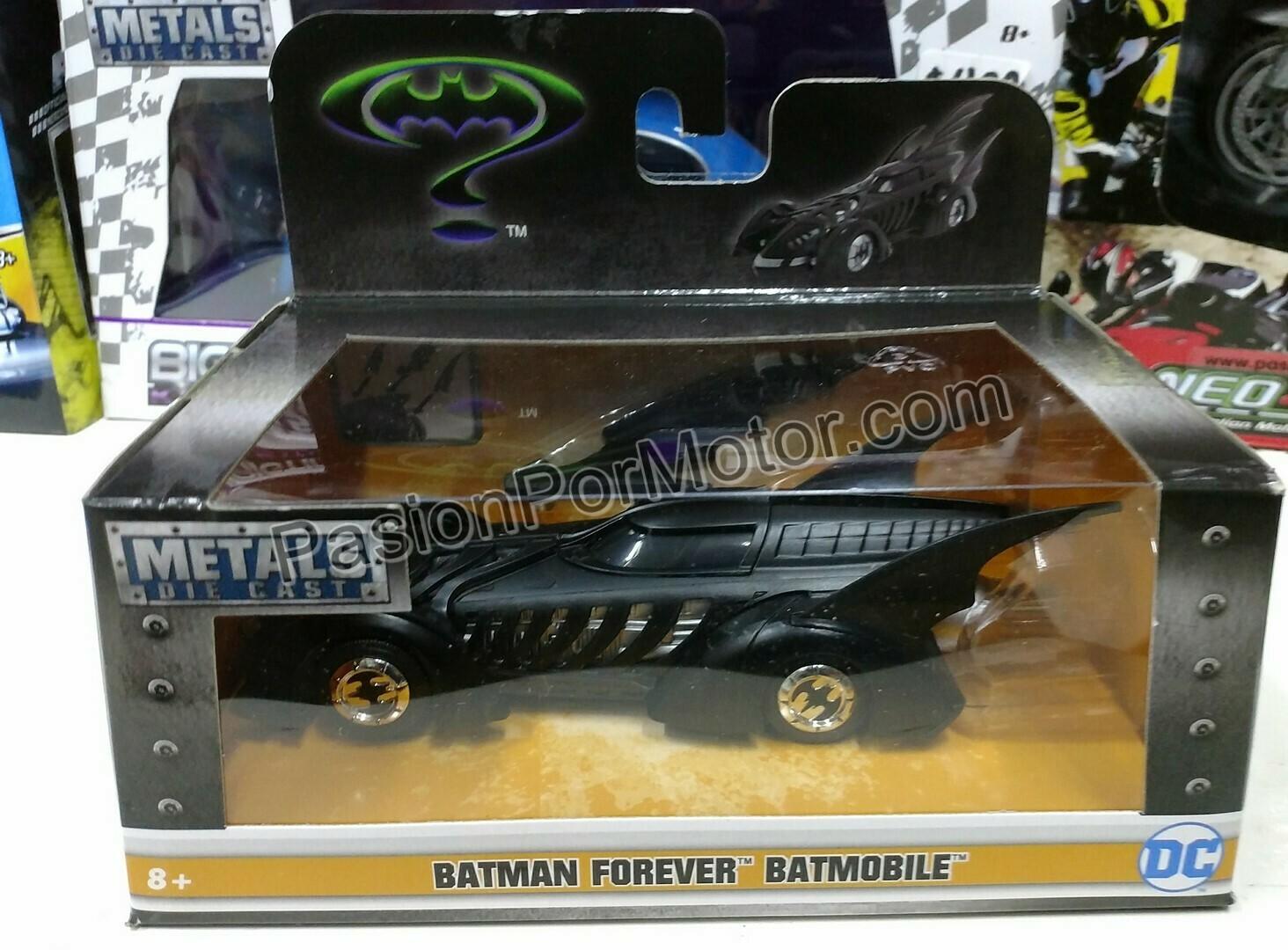 1:32 / 1:43 Batimovil Batman Forever 1995 Jada Toys Metals DC Comics En Caja