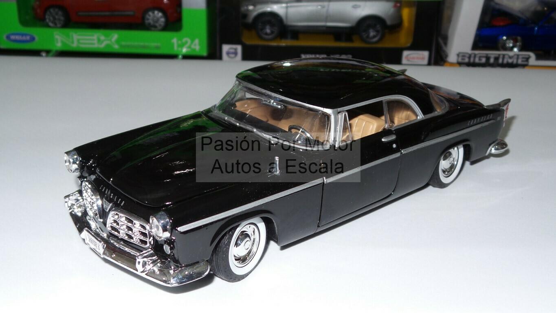 1:24 Chrysler C300 1955 Coupe Negro Motor Max C Caja