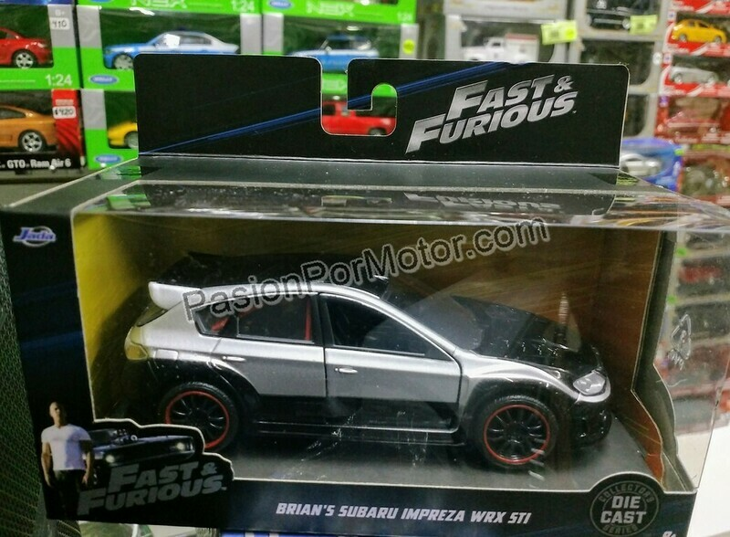 1:32 Subaru Impreza WRX STi 2008 Brian´s Jada Toys Rapido y Furioso En Caja