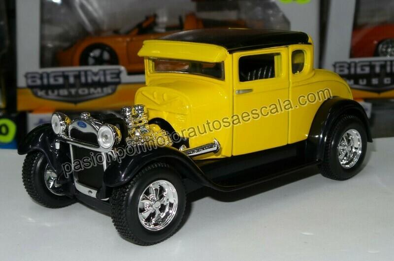 1:24 Ford Model A 1929 Hot Rod Amarillo Maisto Special Edition En Display / A Granel