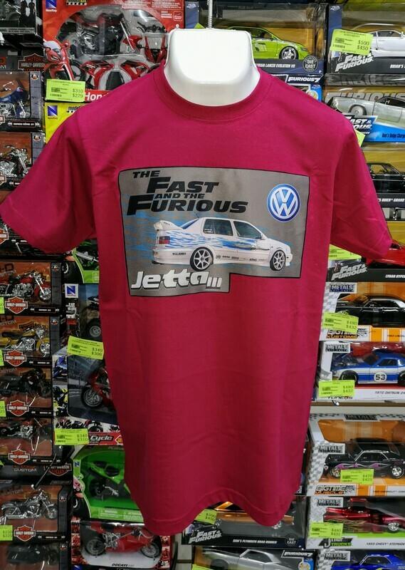 Playera Estampada Vino Rapido y Furioso Volkswagen Jetta III Jesse Talla Grande
