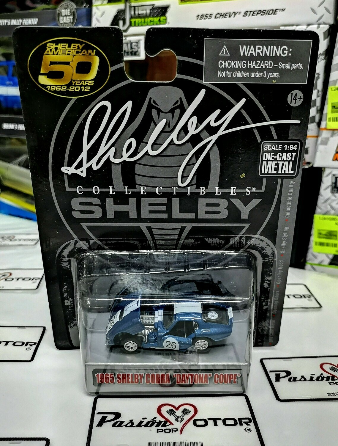 1:64 Shelby Cobra Daytona Coupe 1965 Azul #26 Shelby Collectibles
